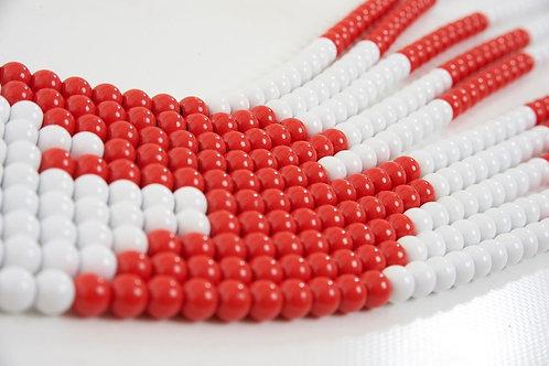 CADENA DEL100 roja/blanca