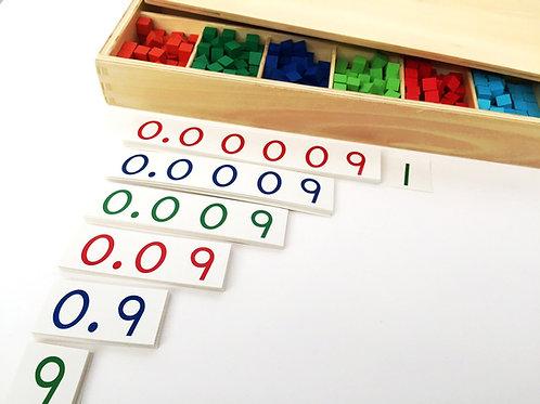 CAJA DE MADERA para FRACCIONES DECIMALES Montessori