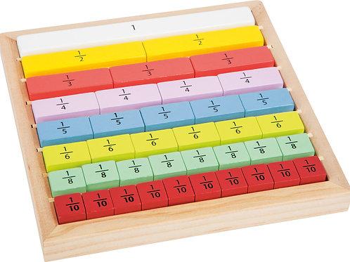 FRACCIONES TABLA  de madera