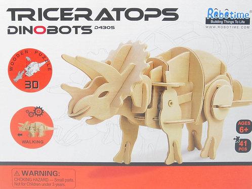 TRICERATOPS 3D Wooden Robotic