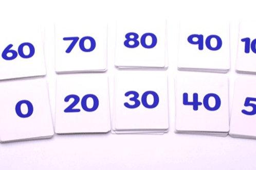 CARTAS NUMÉRICAS 0-100