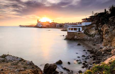 67483670-beautiful-town-of-sitges-at-sun