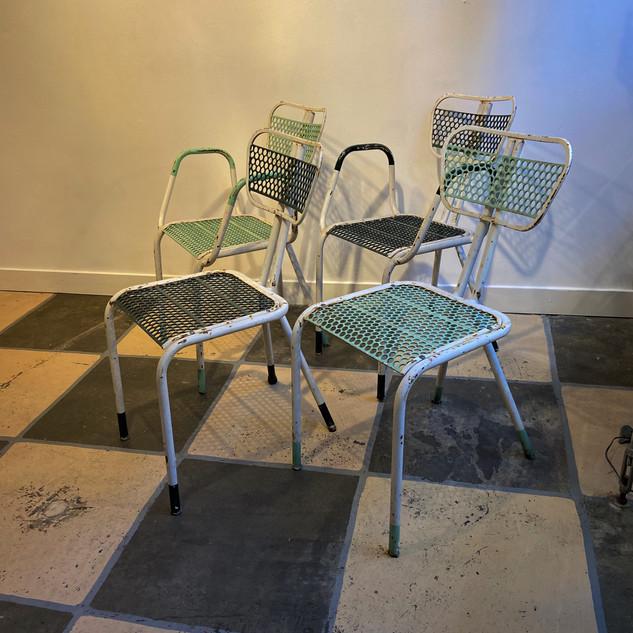 Patio chairs by René Malaval ( ? - 1957 )