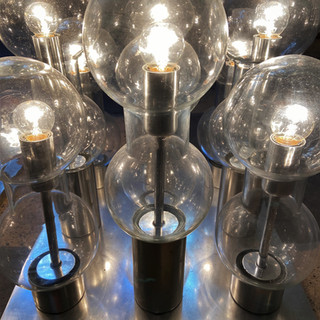 A pair of ceiling lights or table lamps by Doria Leuchten / Germany