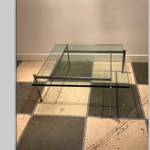 Coffee table PK61 by Danish designer Poul Kjaerholm (1929-1980)