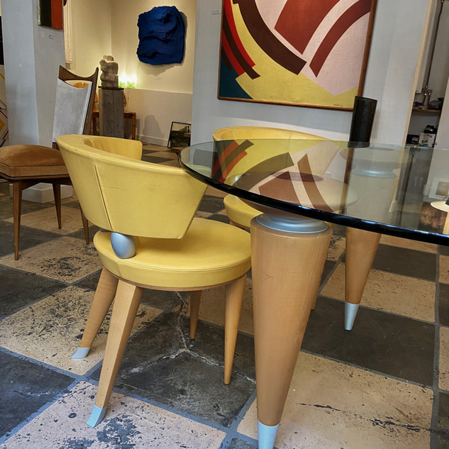 Italian dining table + four chairs