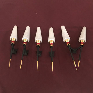 Five French sconces