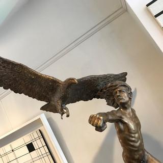 Bronze sculpture by Italian Gabriele Nardi (Florence , 1972 -  )