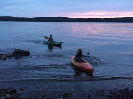 Kayaking at Sunset Cabins