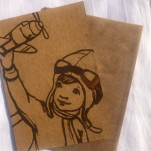 Carte postale avec enveloppe