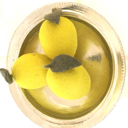 Citrons en laine bouillie