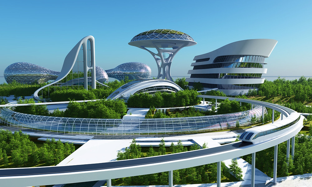 Futuristisches Stadtbild