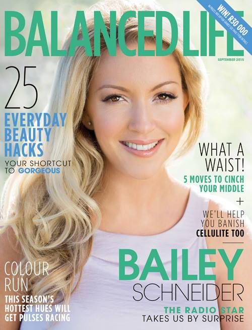 Bailey Schneider cover girl on Balanced Life September 2015