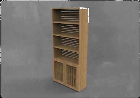 KPH Large Vertical Bookshelf with Door