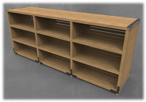 KPH Double Side Bookshelf