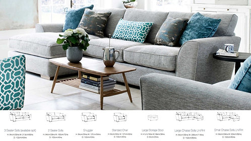 Jasper Sofa (L Shape - 1/2/3 Seater - Footstool)