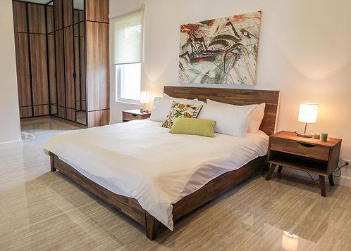 MKD Bed + Side Board (Single/Queen/King)