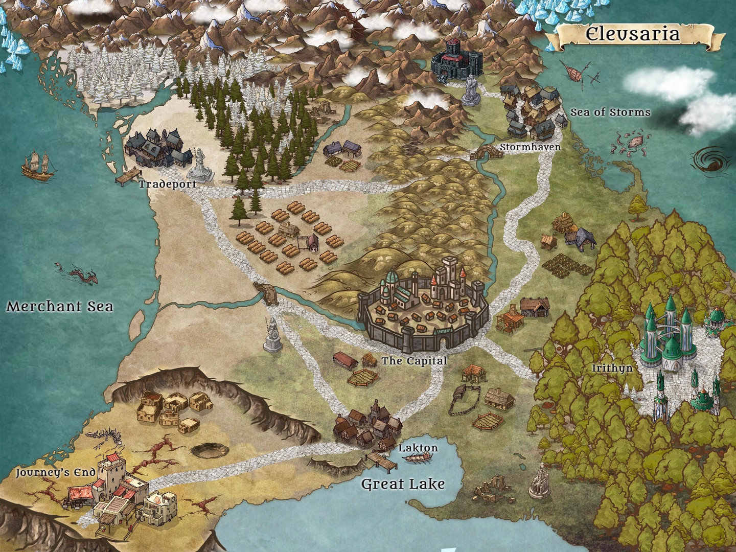 Eleusaria World Map