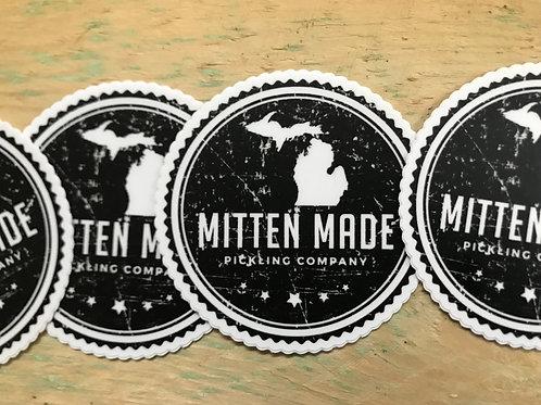 """MMPC B/W Vinyl Die Cut Sticker 3""""x3"""""""