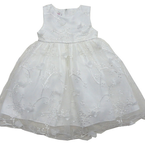 84-607T Toddler Girls' Tulle Embroidered  Dress