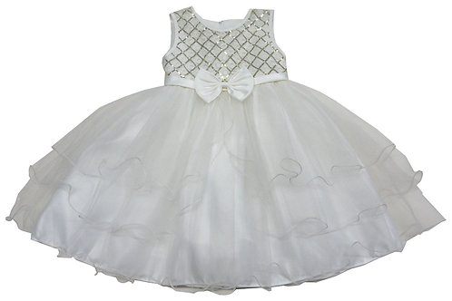 72-101T Toddler Girls' Tulle  Embroidered  Dress
