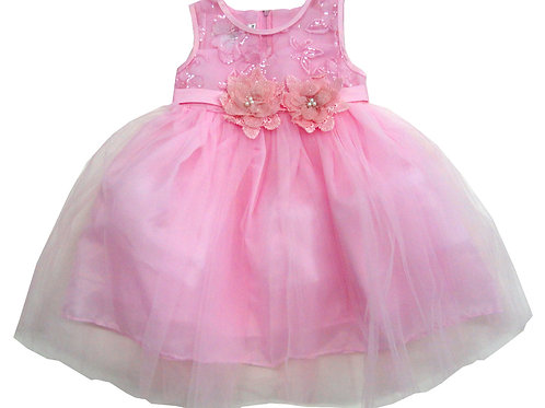 85-05X Girls' (4-6X) Tulle  Embroidered  Dress