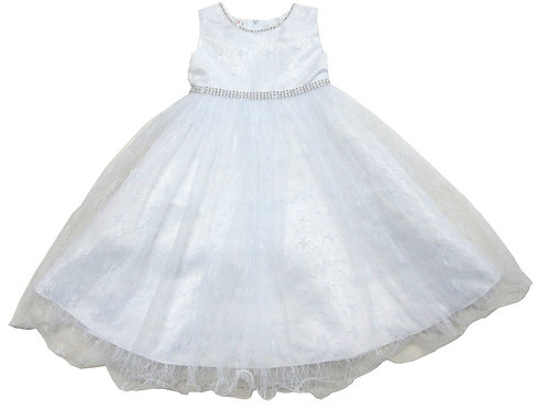 84-602T Toddler Girls' Tulle  Embroidered  Dress