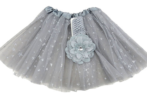 T896L  Girls' Star Tutu with Head Band and Flower