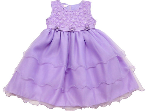 84-614 Infants' Organza  Embroidered  Dress