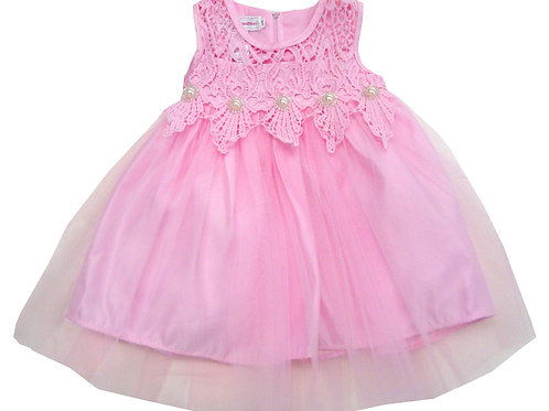 84-605 Infants' Organza  Embroidered  Dress