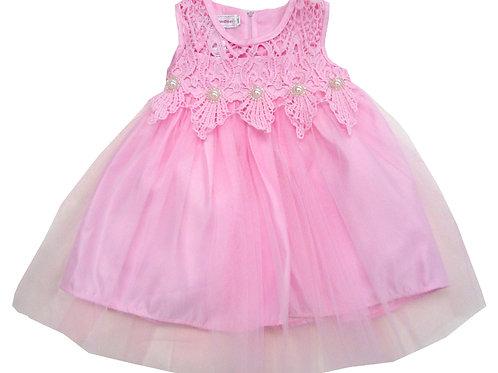 84-605L Girls' (8-14) Organza  Embroidered Dress