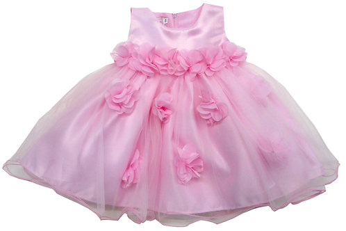 72-114 Infants' Organza  Pop Up Flower  Dress