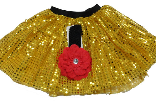 TC-305L  Girls'  Tutu with Head Band and Flower