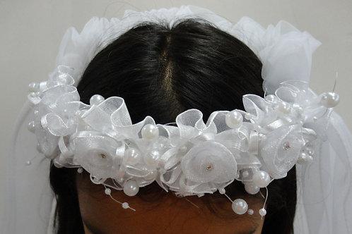 V-191  Flower Girl Veil 2 Layers Tulle Wedding Veil