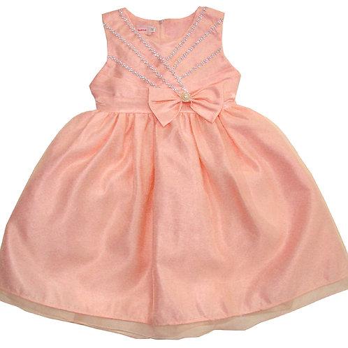 94-400X Girls' (4-6X)  Organza Bead Dress