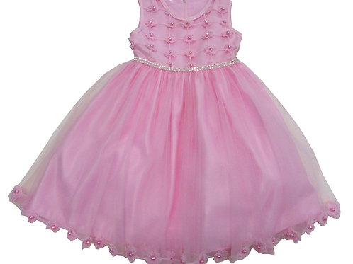 72-100T Toddler Girls' Tulle  Embroidered  Dress