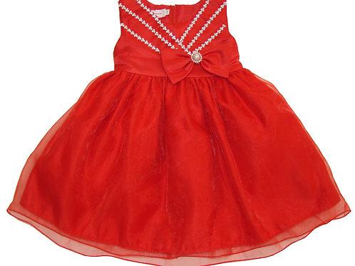 94-400T Toddler Organza Bead  Dress