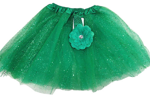 T303L  Girls'  Tutu with Head Band and Flower