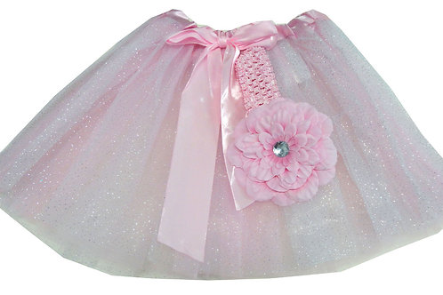 T150 Girls' Tutu with Head Band and Flower