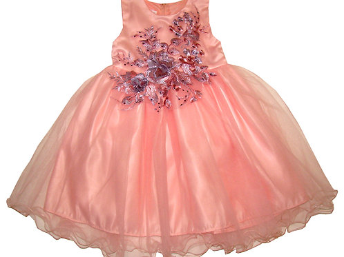 94-615 Infants' Tulle  Embroidered  Dress