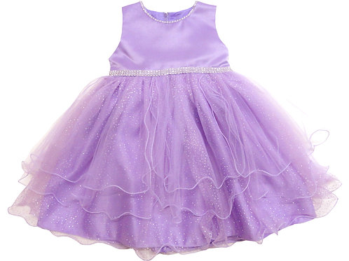 74-475X Girls' (4-6X) Tulle  Embroidered  Dress