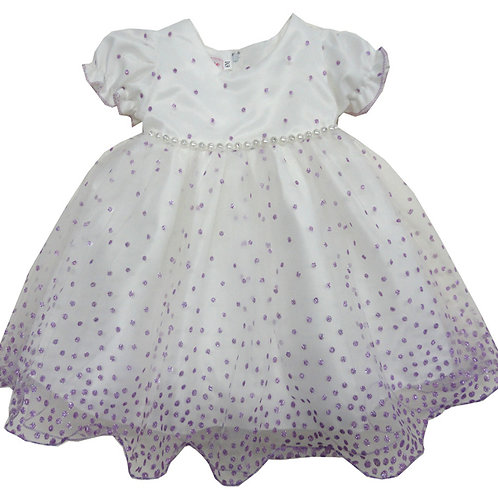 67-854T Toddler Girls' Tulle  Embroidered  Dress