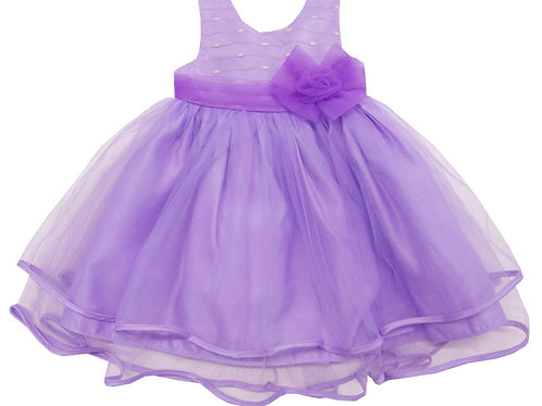 84-609X Girls' (4-6X) Tulle  Embroidered  Dress