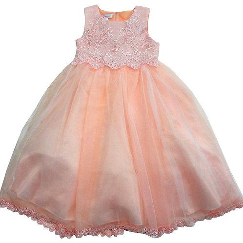 84-604X Girls' (4-6X) Organza  Embroidered Dress