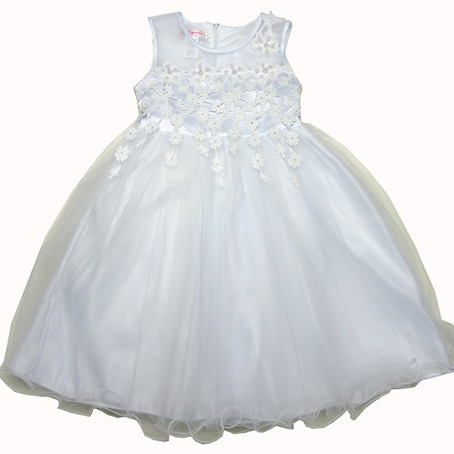 66-408 Girls' (8-14) Embroidered  Girl  Dress