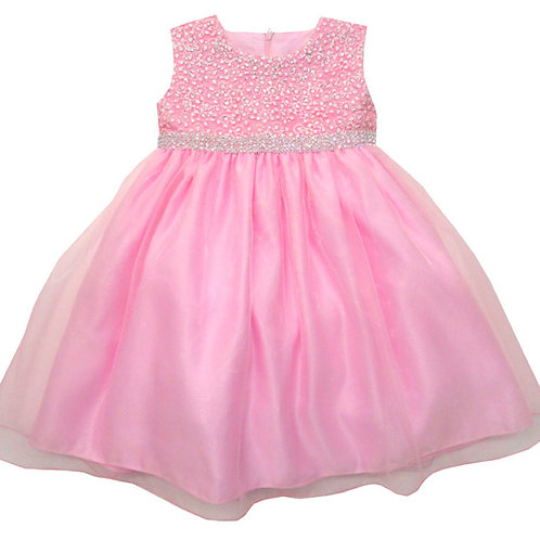 66-403T Toddler Girls' Embroidered Sequin Dress