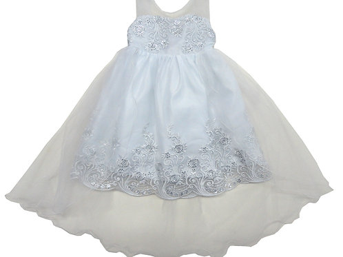 84-600L Beautiful Organza  Embroidered  Girl  Dress
