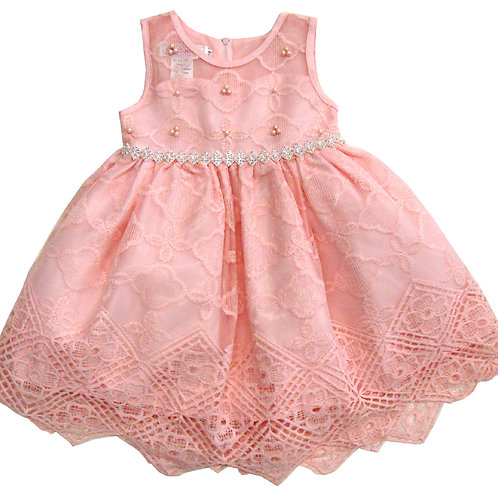 94-401T Toddler Girls'  Tulle Embroidered  Dress