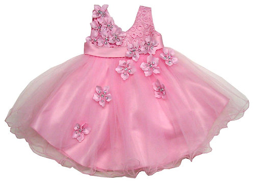 85-209T Toddler Girls' Tulle Embroidered  Dress