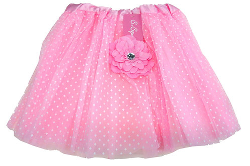 T899L  Girls' Tutu with Head Band and Flower
